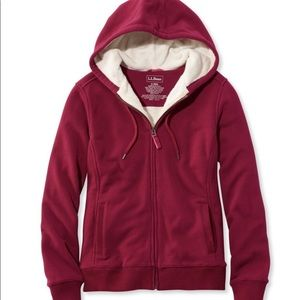 FLASH SALE❤️ Pink LL Bean Fur lined Zip up 🙌